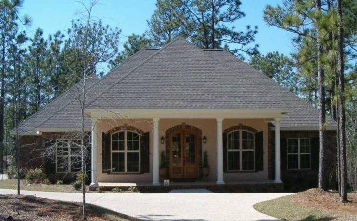 Acadian Style House Plans Front Porch