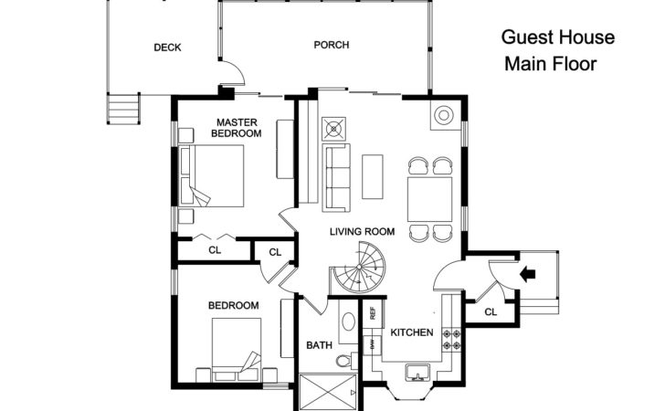 Adobe Guest House Plans Cottage