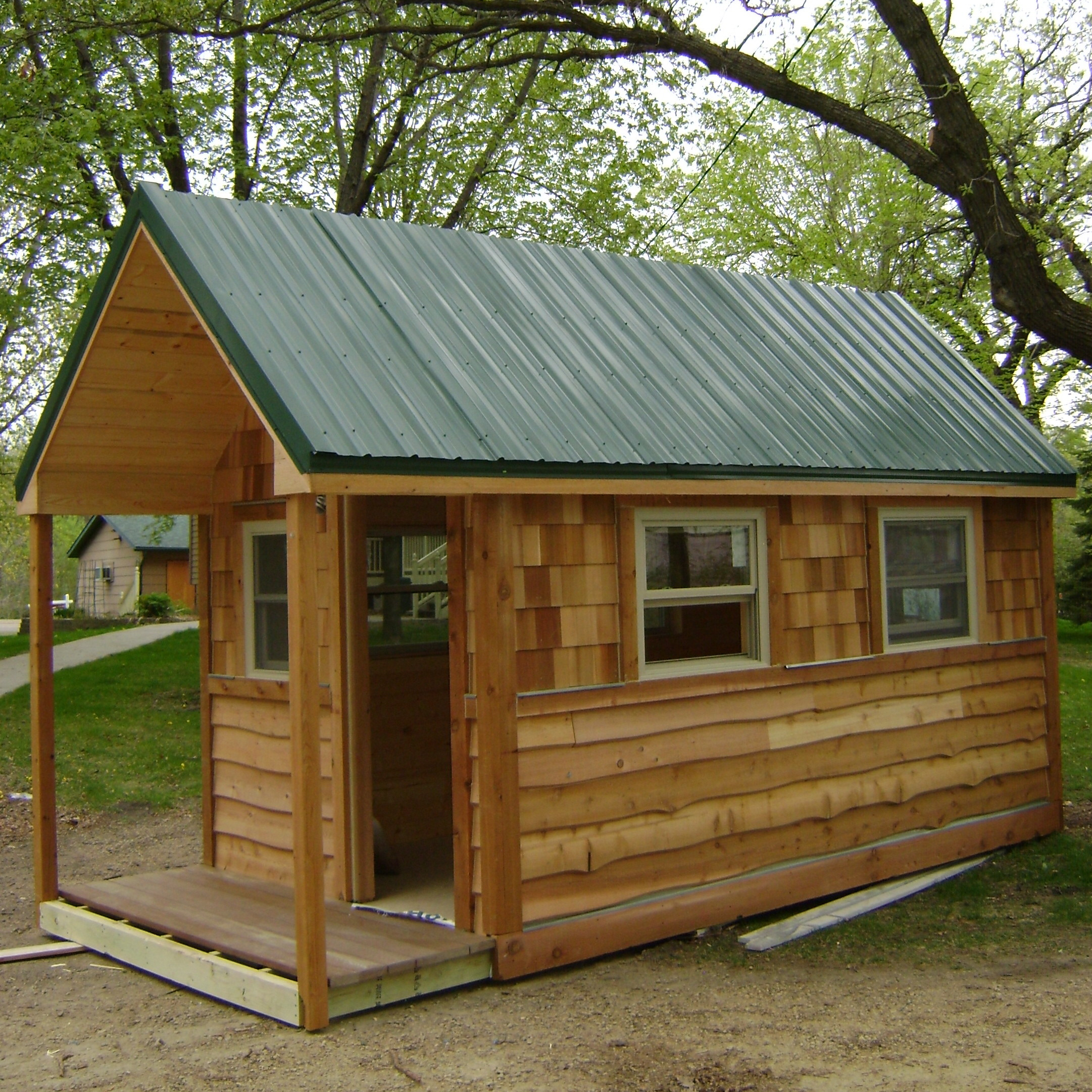 Adorable Small Removable Cabin Sliding Glass