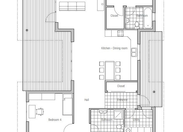 Affordable Home Detailed Construction Blueprints