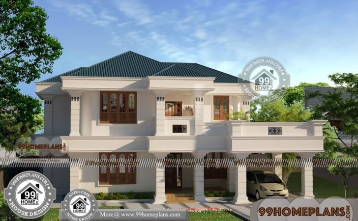 Affordable Two Story House Plans Traditional Large