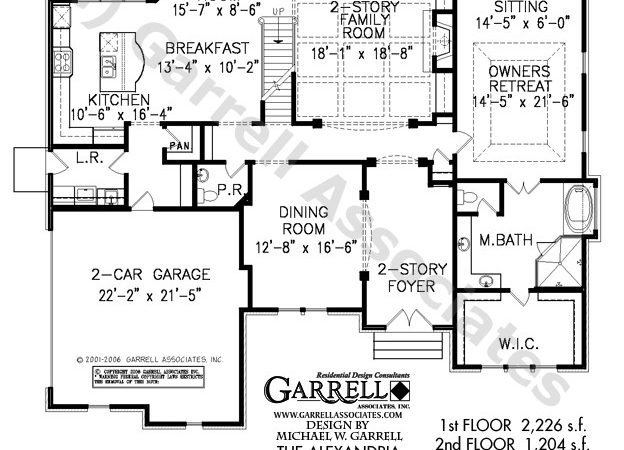 Alexandria House Plan Plans Garrell Associates