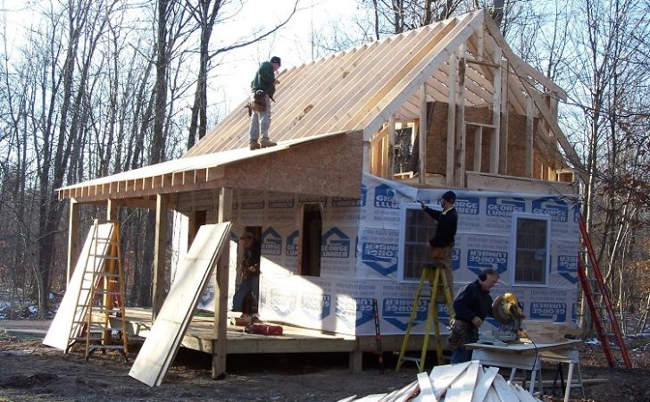 Amazing Cabin Plans Loft Porch Home Building