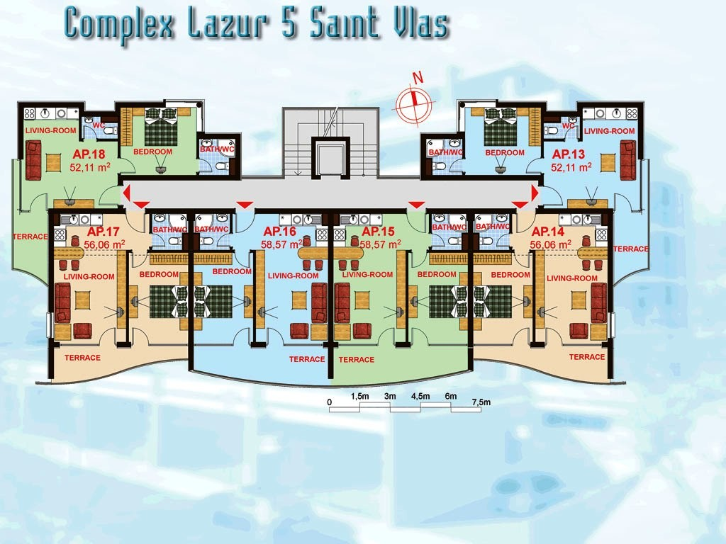 Amazing Small Apartment Complex Plans House