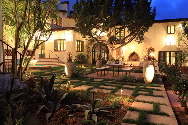 Andalusian Courtyard Dining Lounge Mediterranean