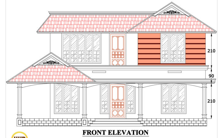 Antonio Design Home House Plan Sloping Squared Roof
