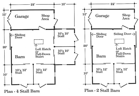 Apple Downs Two Four Stall Barn Garage Plans