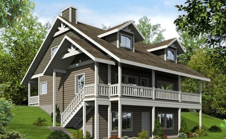 Architectural Designs Sloping Lot House Plan Gives