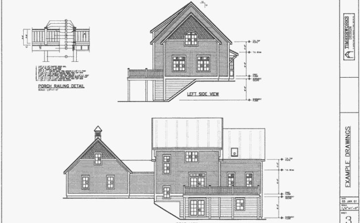 Architectural Drawing Packages Post Beam Homes