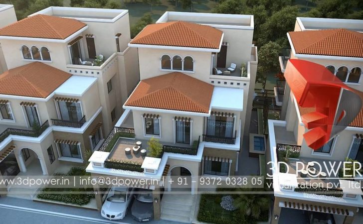 Architectural Visualization Row House Designs Youtube