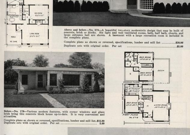 Art Deco Style Homes Plan Book