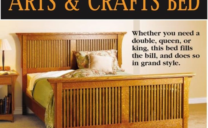 Arts Crafts Bed Downloadable Woodworking