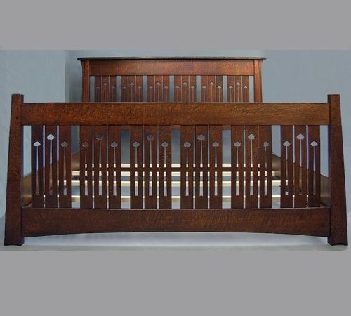 Arts Crafts King Bed Mackintosh Style Taller