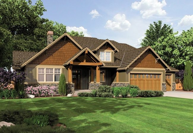 Ashby Lodge Style Craftsman Home Plan