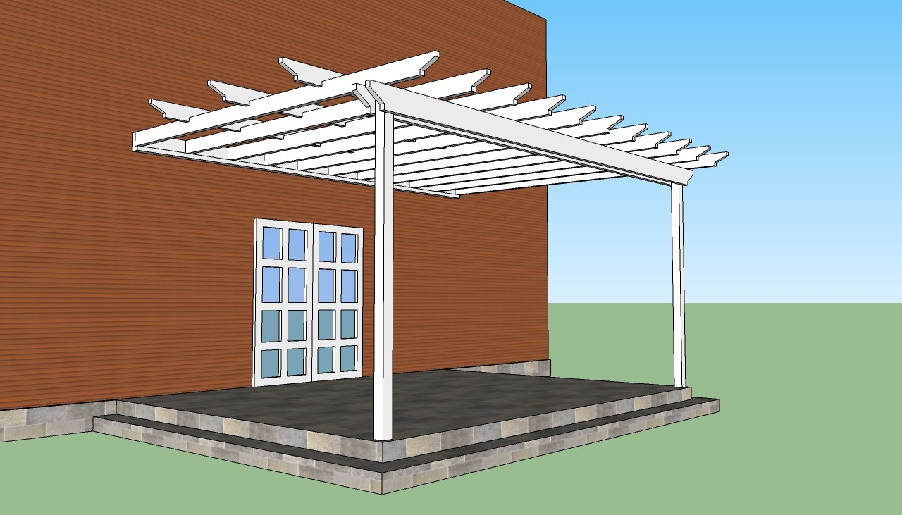 Attached Pergola Plans Howtospecialist Build