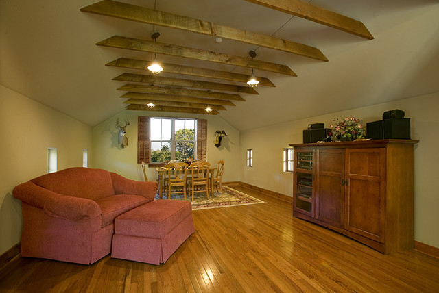 Attic Above Garage Traditional Living Room Other