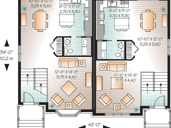 Attractive Two House Plan Cad Available
