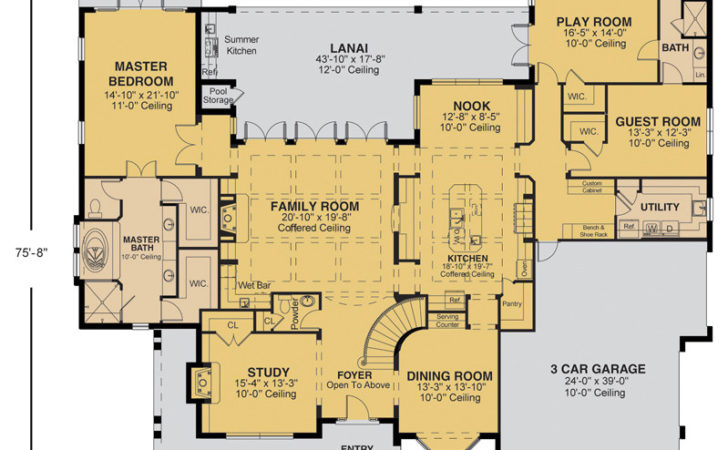 Awesome Custom Home Plans Homes Floor