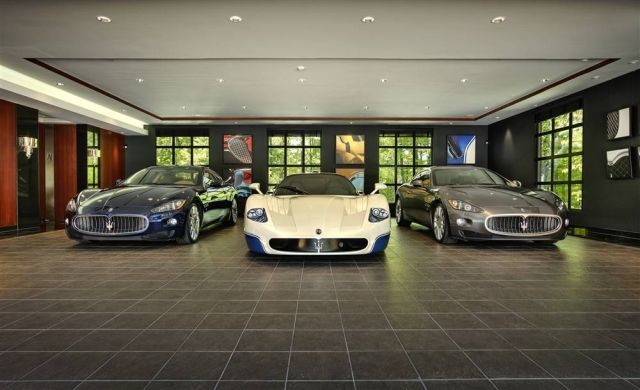 Awesome Most Beautiful Garages Super Cars Pics