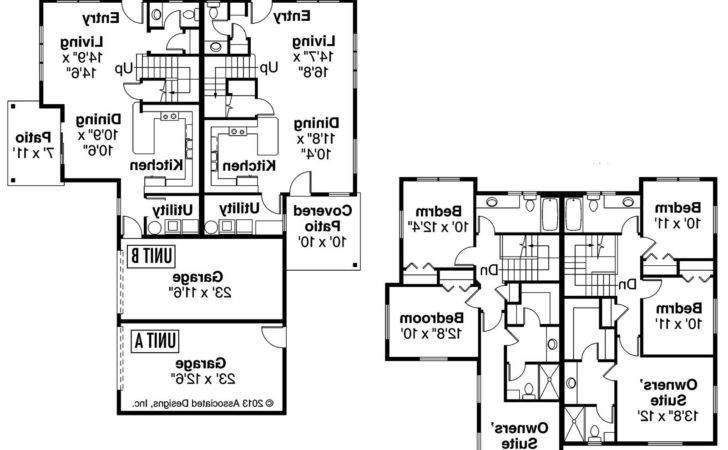 Awesome Side Duplex House Plans