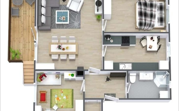Awesome Two Bedroom Apartment Floor Plans