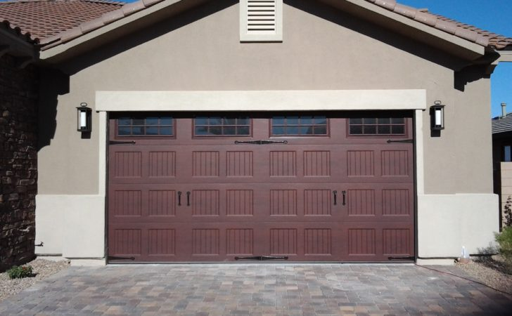Awesome Two Car Garage Doors Inspire Homesfeed