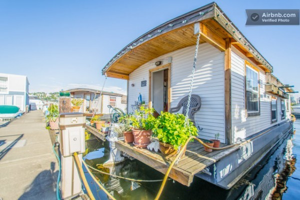 Barge Tiny House Vacation Rental Wheels Water