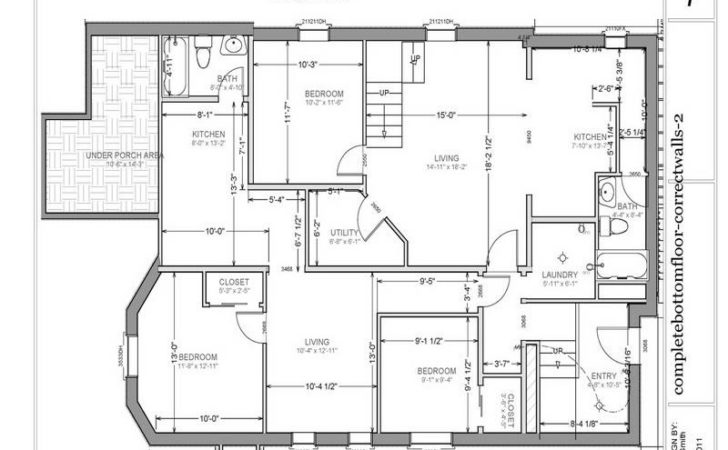 Basement Garage Apartment Floor Plans Stroovi