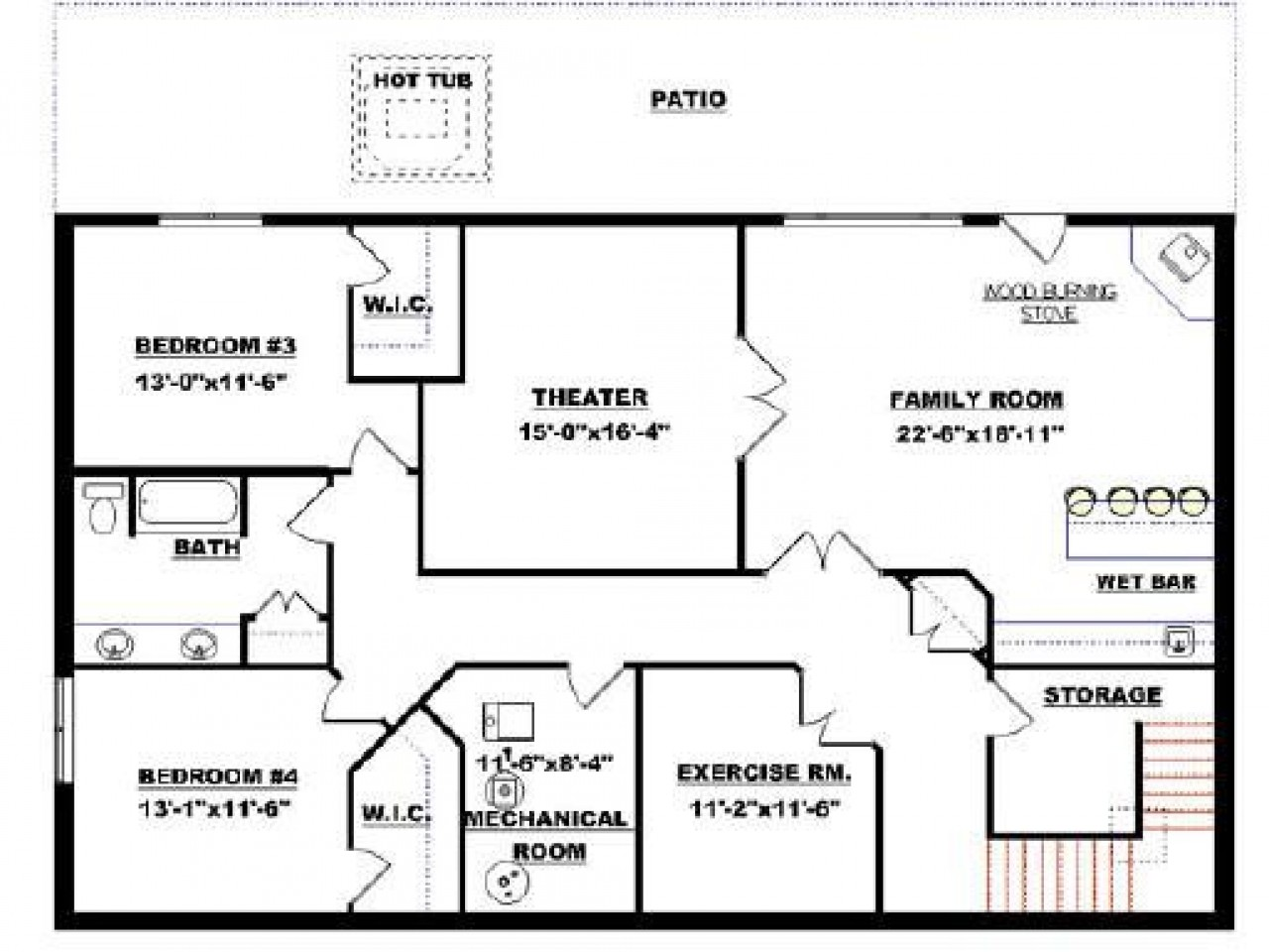 Basement Open Floor Plans Walkout Best Finished
