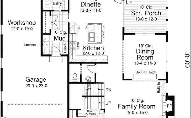 Bavarian Country Bungalow Home Plan House