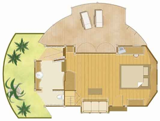 Beach Bungalow Tikehau Floor Plan Island Escapes