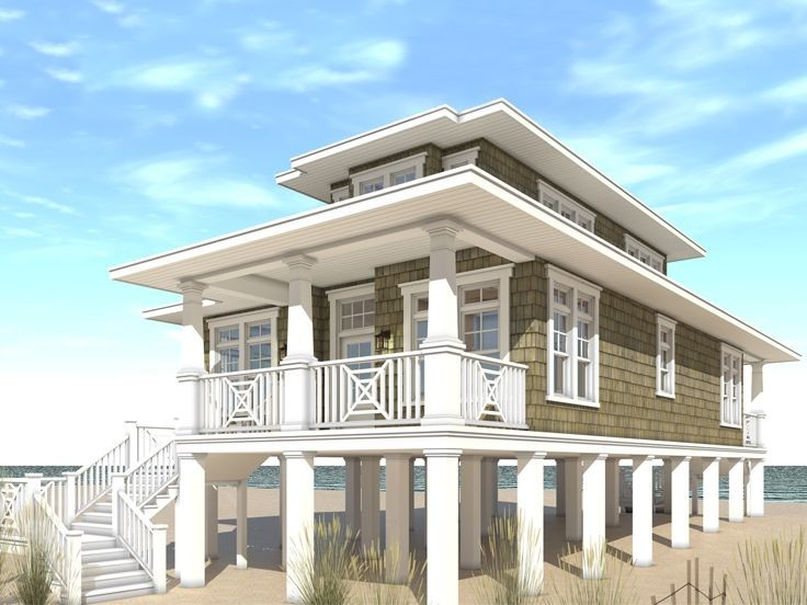 Beach House Plans Narrow Lots Escortsea