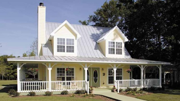 Beautiful Country Home Wrap Around Porch Plans