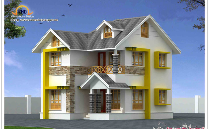 Beautiful Duplex House Elevation Kerala