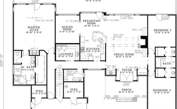 Beautiful Home Plans More Amazing Ranch House Floor