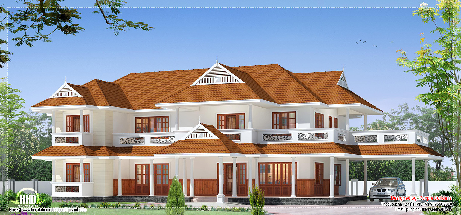 Beautiful Luxury Two Storey House Design Architecture