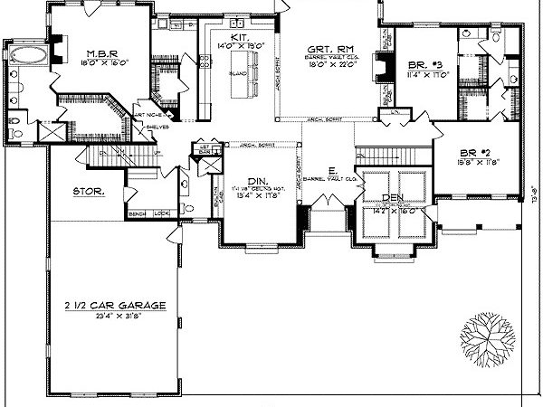 Beautiful Ranch Style Home Plan Architectural