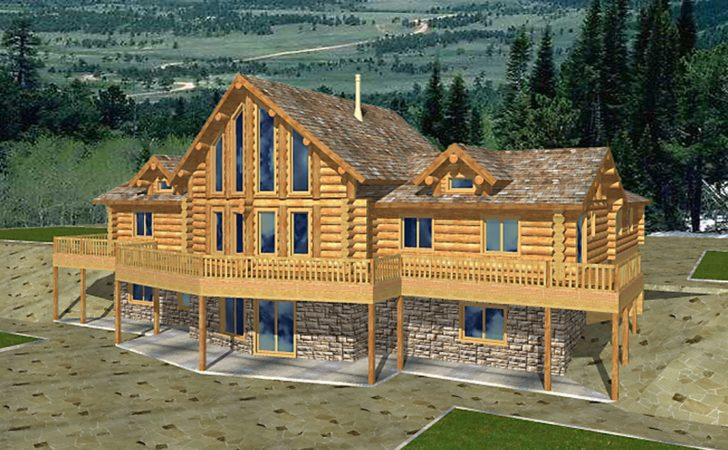Beautiful Style Log Home Design Coast
