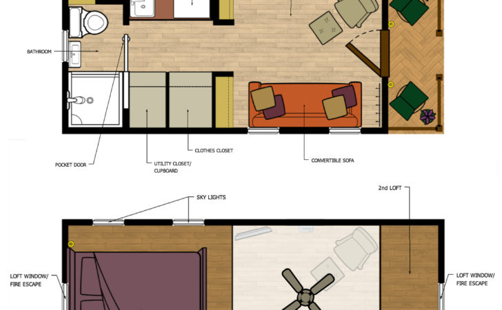 Beautiful Tiny Homes Plans Loft House Floor