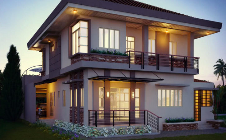 Beautiful Two Story House Balcony Double