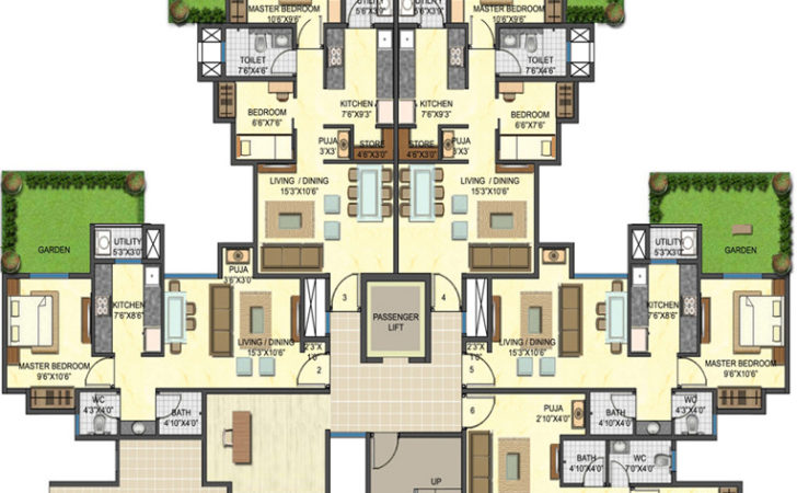 Bedroom Apartment Plans Beautiful Photos