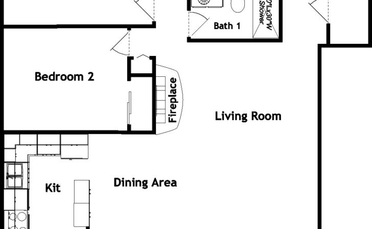 Bedroom Bath Apartment Floor Plans Beautiful