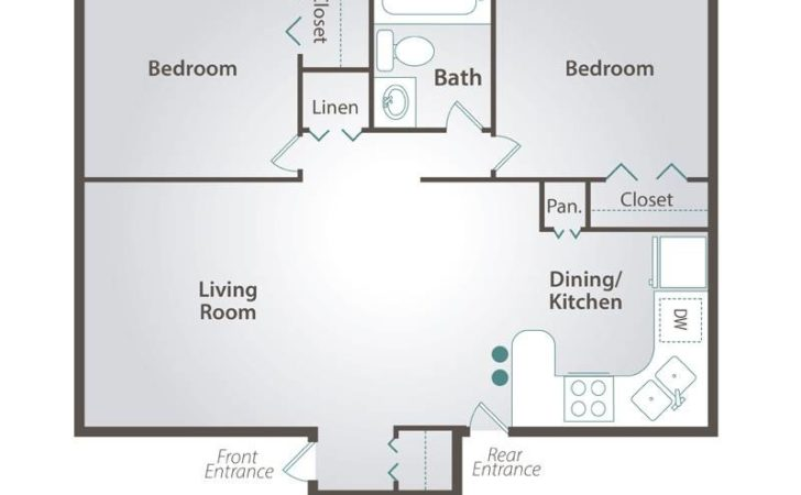 Bedroom Bath Apartment Floor Plans Real