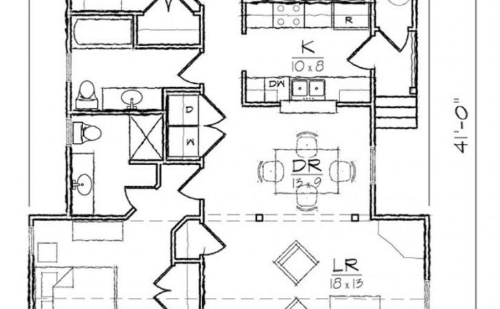 Bedroom Bath Cottage Style House Plan