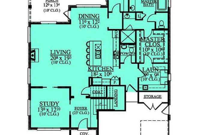 Bedroom Bath House Plan Awesome