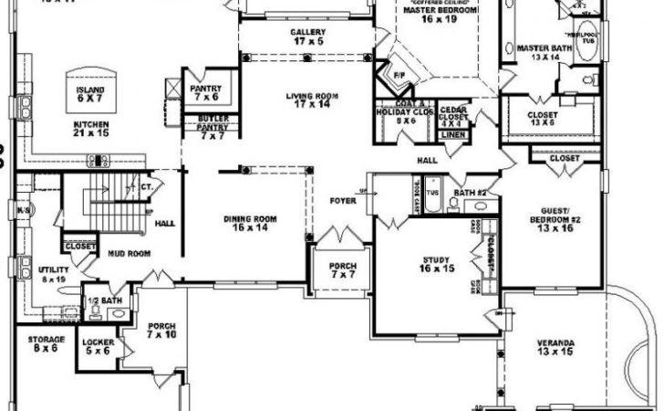 Bedroom Bath House Plan Plans