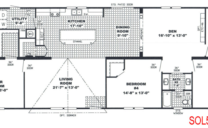 Bedroom Bath Mobile Home Also Double Wide Floor Plans