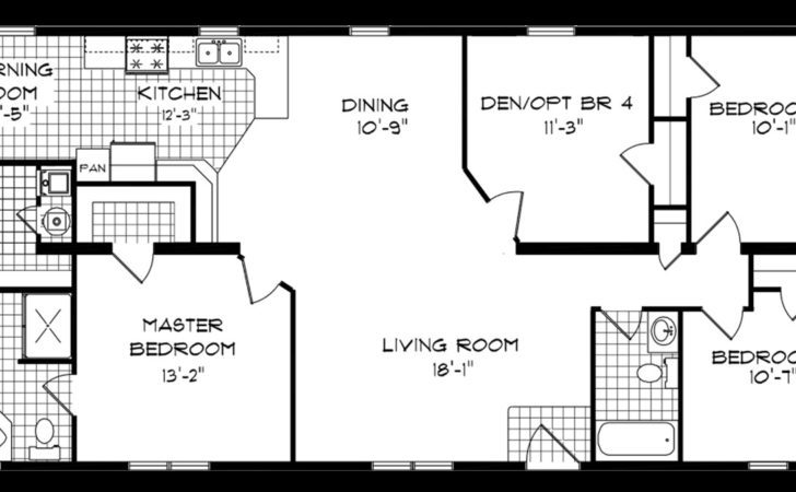 Bedroom Bath Mobile Home Floor Plans Ehouse Plan