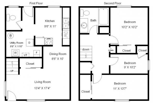 Bedroom Bungalow Floor Plan Joy Studio Design