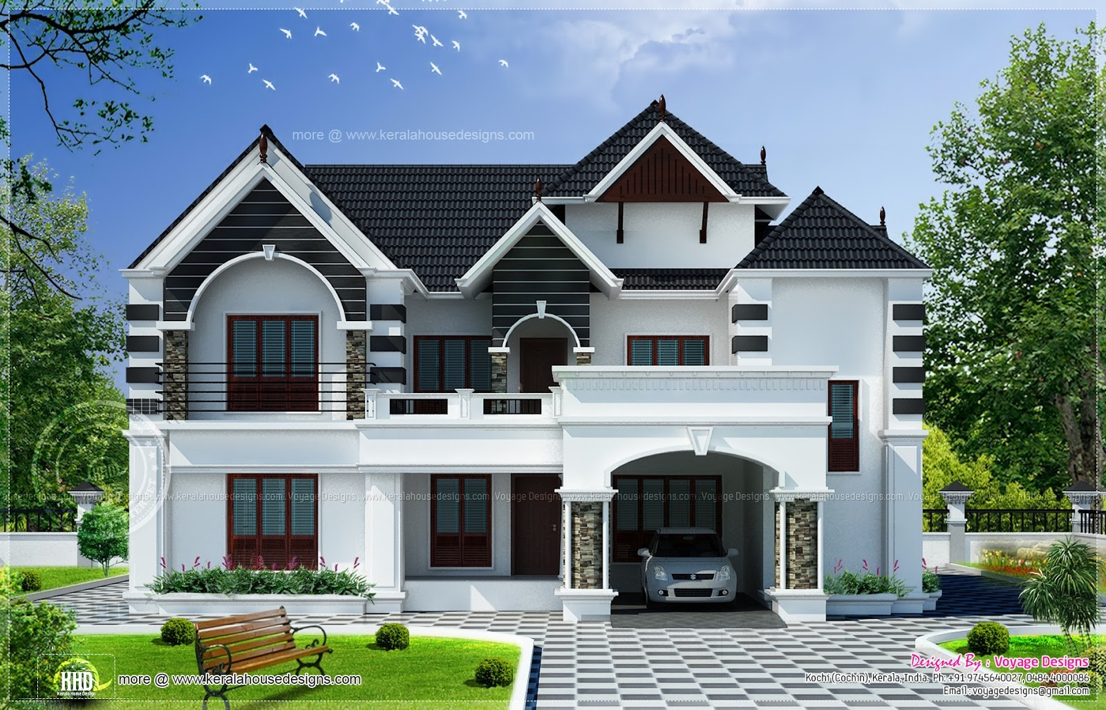 Bedroom Colonial Style House Kerala Home Design